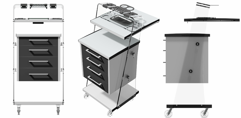 mobile medical cabinet Aquarius